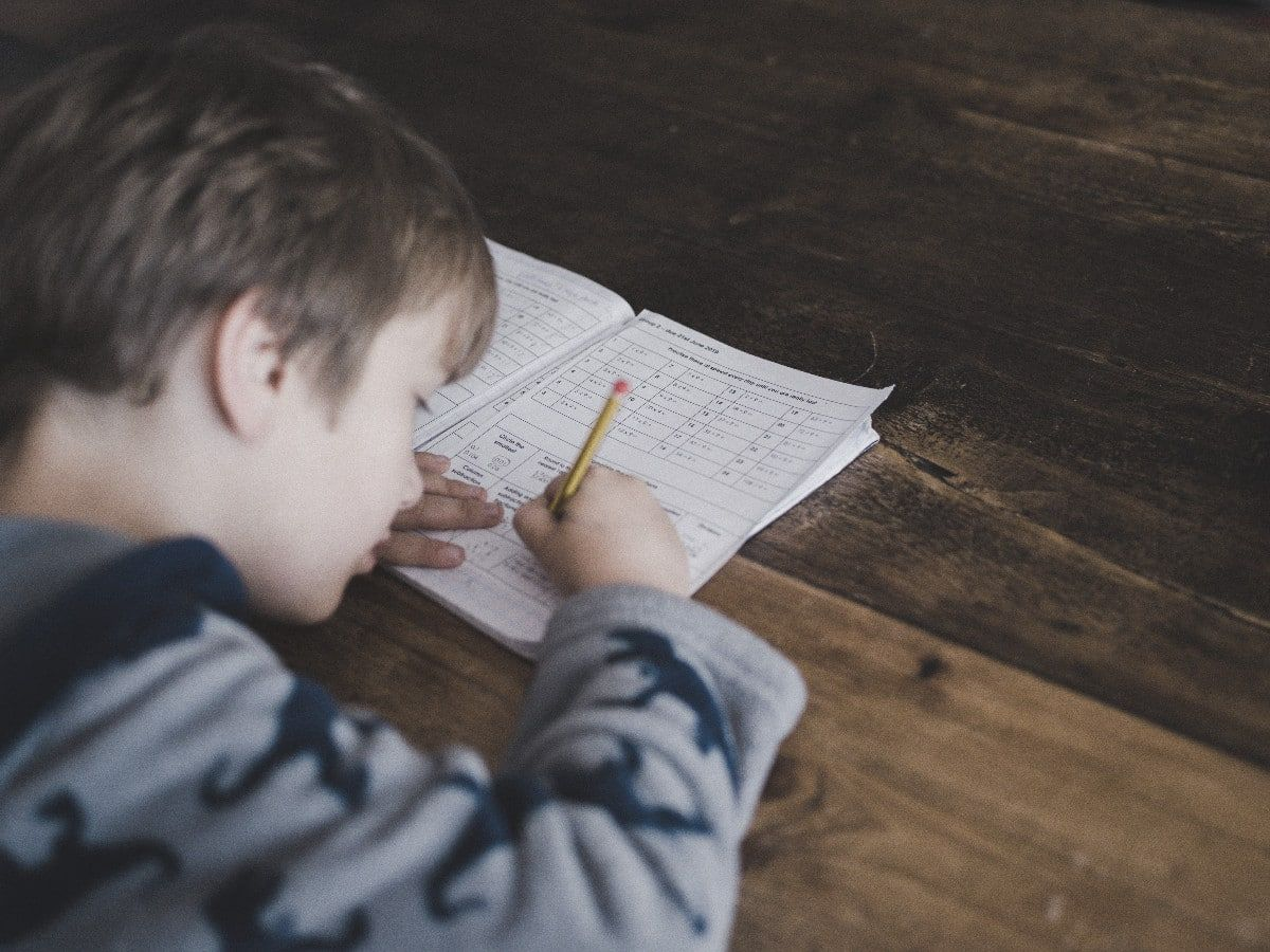 homeschooling desk